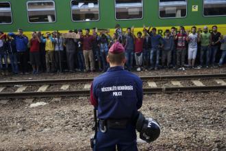 Syrian Refugee Budapest Train Station